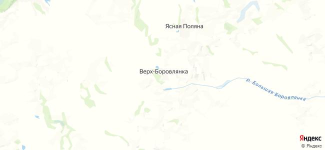 Верх-Боровлянка на карте