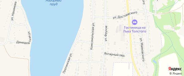Комсомольская улица на карте Змеиногорска с номерами домов