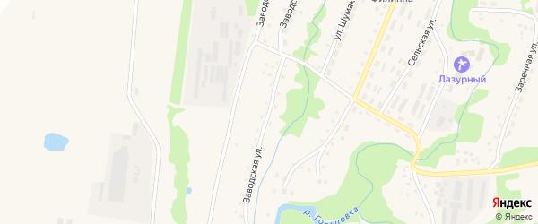 Заводская улица на карте села Барановки с номерами домов