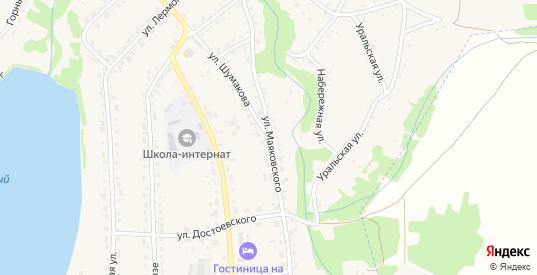 Улица Маяковского в Змеиногорске с номерами домов на карте. Спутник и схема онлайн