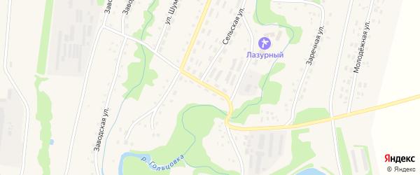 Набережная улица на карте села Барановки с номерами домов