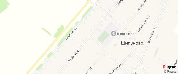 Зеленая улица на карте села Шипуново(Российского с/с) с номерами домов