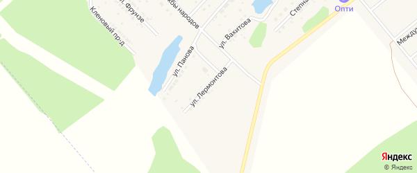 Улица Лермонтова на карте села Шипуново с номерами домов