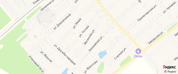 Весенняя улица на карте села Шипуново Алтайского края с номерами домов