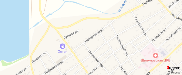 Набережная улица на карте села Шипуново(Российского с/с) Алтайского края с номерами домов