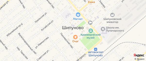 Олимпийская улица на карте села Шипуново с номерами домов