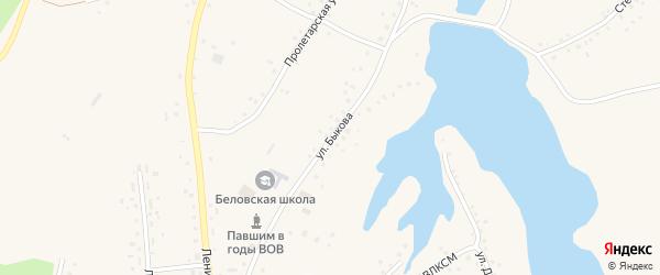 Улица Быкова на карте села Белово с номерами домов
