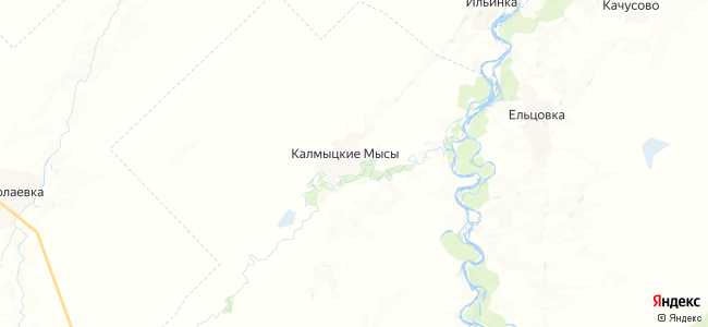 Калмыцкие мысы на карте