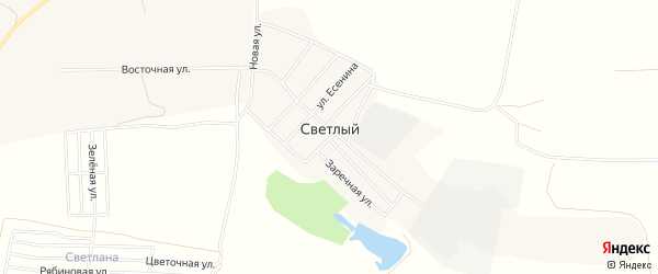 Карта Светлого поселка в Новосибирской области с улицами и номерами домов