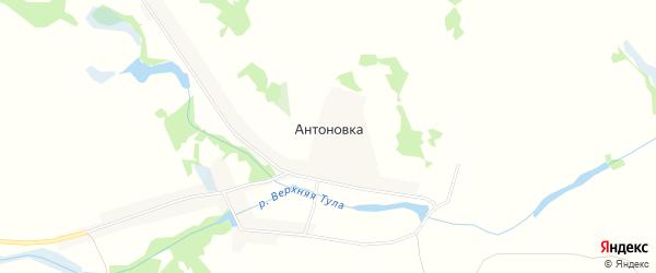 Карта деревни Антоновки в Новосибирской области с улицами и номерами домов