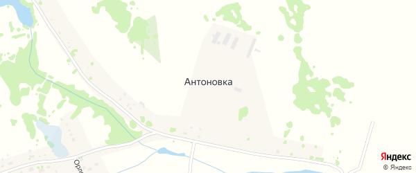 Молоканская улица на карте деревни Антоновки Новосибирской области с номерами домов