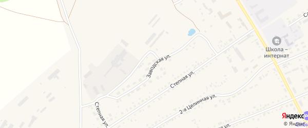 Заводская улица на карте села Ребрихи с номерами домов