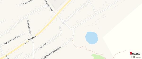 Улица Демьяна Бедного на карте села Ребрихи с номерами домов