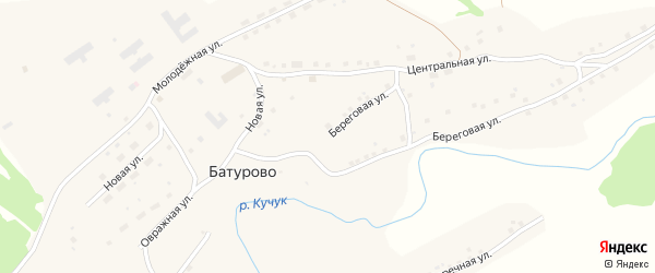Овражная улица на карте села Батурово с номерами домов