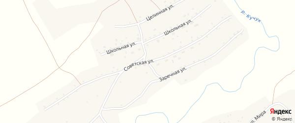 Советская улица на карте села Кучука с номерами домов
