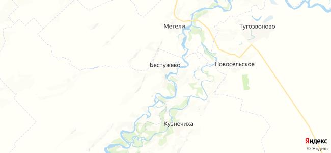 Бестужево на карте