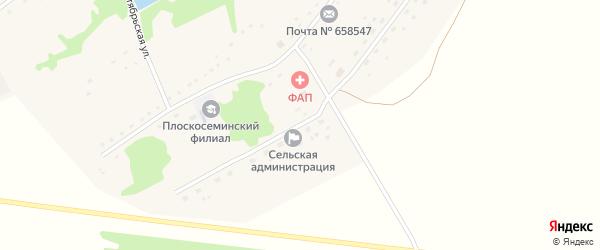 Улица 40 лет Победы на карте Плоскосеминского поселка Алтайского края с номерами домов