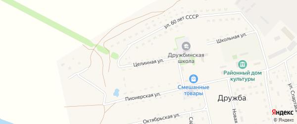 Целинная улица на карте села Дружбы с номерами домов