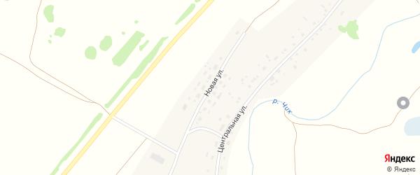 Новая улица на карте деревни Чика Новосибирской области с номерами домов