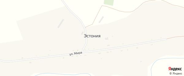 Улица Мира на карте села Эстонии с номерами домов
