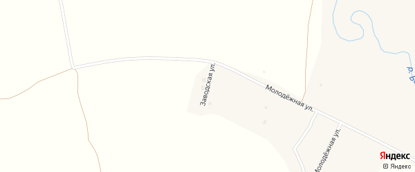Заводская улица на карте села Колывани с номерами домов