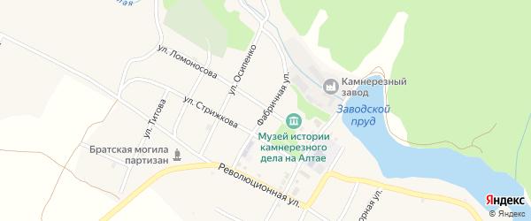 Фабричная улица на карте села Колывани с номерами домов