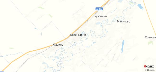 Красный Яр на карте