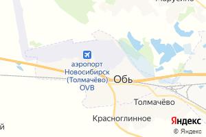 Карта г. Обь Новосибирская область