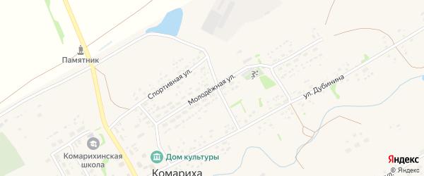 Молодежная улица на карте села Комарихи с номерами домов