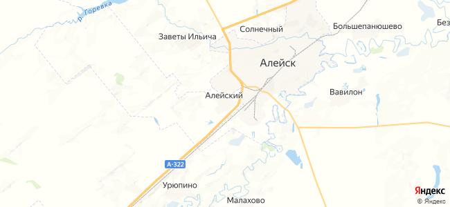 Алейский на карте