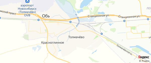Карта Толмачевский сельсовета Новосибирской области с районами, улицами и номерами домов