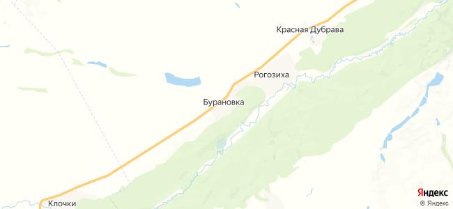 Бурановка на карте