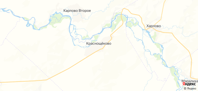 Краснощеково на карте