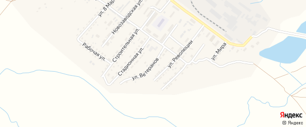 Улица Ветеранов на карте Алейска с номерами домов