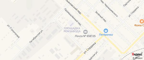 Площадка Ремзавода на карте Алейска с номерами домов