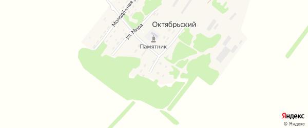 Садовая улица на карте Октябрьского поселка с номерами домов
