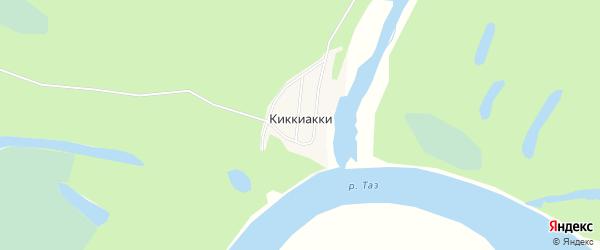 Карта села Киккиакки в Ямало-ненецком автономном округе с улицами и номерами домов