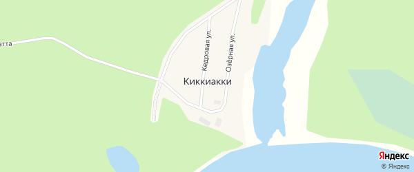 Кедровая улица на карте села Киккиакки Ямало-ненецкого автономного округа с номерами домов
