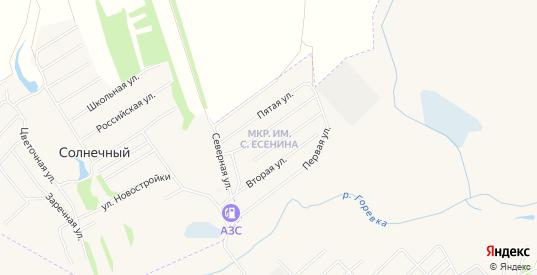 Карта микрорайона им С.Есенина в Алейске с улицами, домами и почтовыми отделениями со спутника онлайн