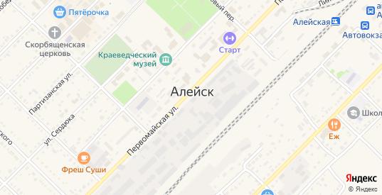 Дачный переулок в Алейске с номерами домов на карте. Спутник и схема онлайн