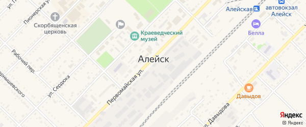 Деповской переулок на карте Алейска с номерами домов