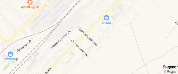Центральный переулок на карте Алейска с номерами домов