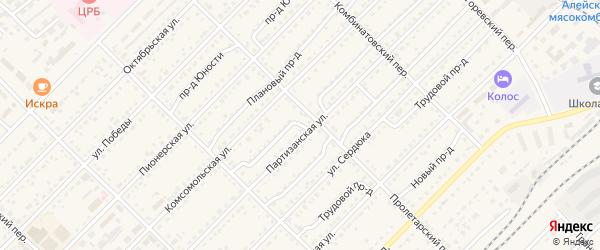Гражданский проезд на карте Алейска с номерами домов