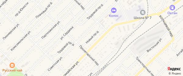 Новый проезд на карте Алейска с номерами домов
