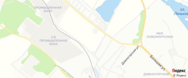 Территория Производственная зона на карте Новосибирского района Новосибирской области с номерами домов