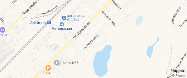Алтайская улица на карте Алейска с номерами домов
