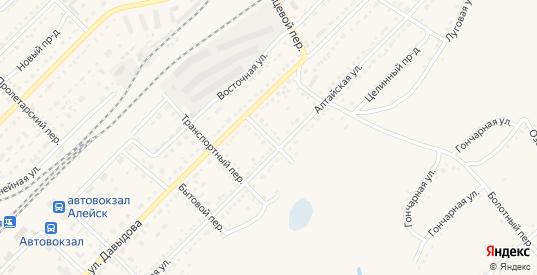 Каменский переулок в Алейске с номерами домов на карте. Спутник и схема онлайн
