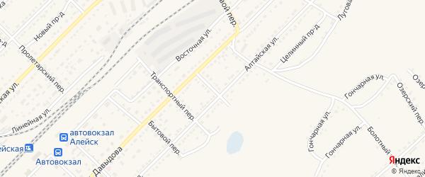 Каменский переулок на карте Алейска с номерами домов