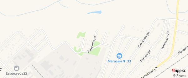 Заречная улица на карте Алейска с номерами домов