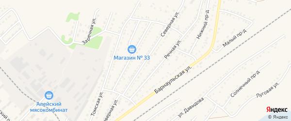 Северная улица на карте Алейска с номерами домов
